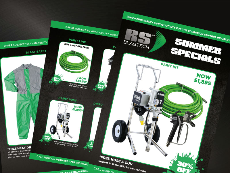 RS Blastech Summer Equipment Specials
