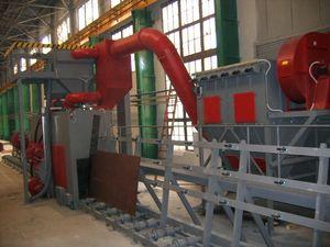 Vertical Roller Conveyor Wheelblast Machines