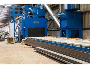 KUBE Thro-Feed Roller Conveyor Wheelblast Machine